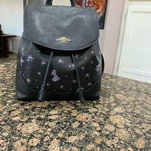 Coach Bags - Coach Disney X Dalmatian Floral Print Elle Backpak